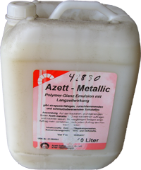 Wischpflege Azett-metallic Kanister 10 l