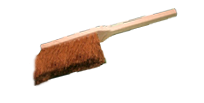 Handfeger (Holz) mit Kokus Besteckung