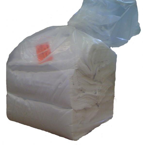 Polierleinen weiß, quadratisch 80x80cm