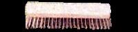 Schrubber 4-Loch, Kunsstoffkörper, 7 rhg